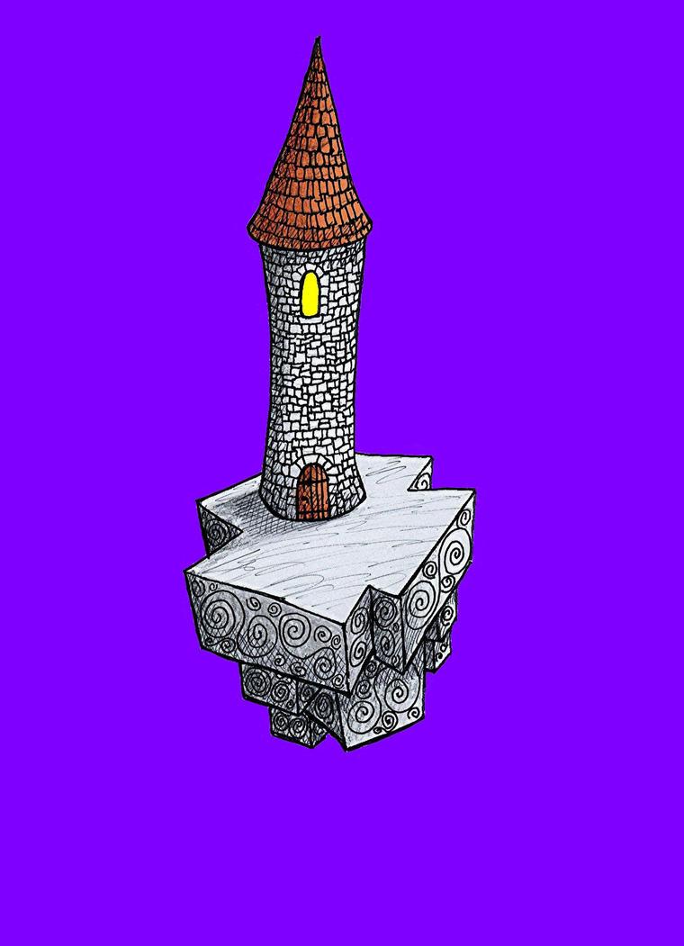 Sky Island Tower by Mistgod