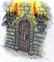 Silverwood Door by Mistgod