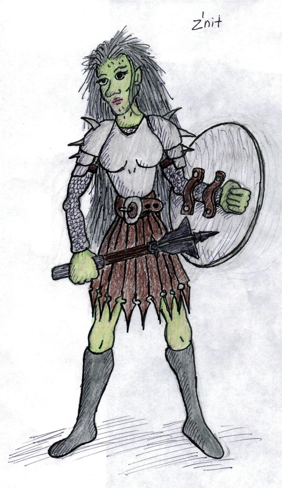 Znit, Green Hag Fighter by Mistgod on deviantART