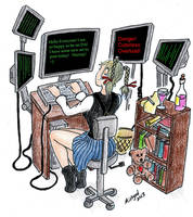 Melian and her Dreamscape Matrix Computer by Mistgod
