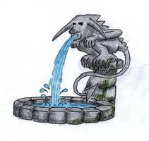 Gargoyle Fountain by Mistgod