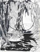 Jungle Drawing by Mistgod