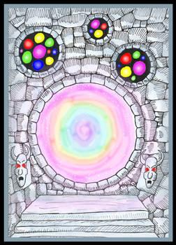 Sparkling Rainbow Portal