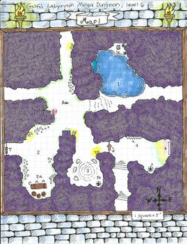 Golfo's Labyrinth Mega Dungeon, Level 6, Map1