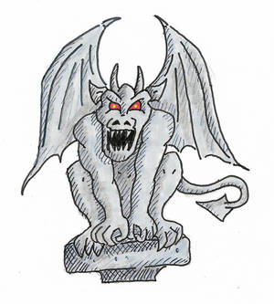 Golfo's Gargoyle 1, colored and shaded