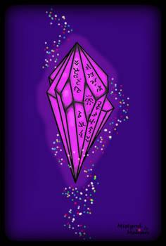 Purple Crystal Of Magic Power!!