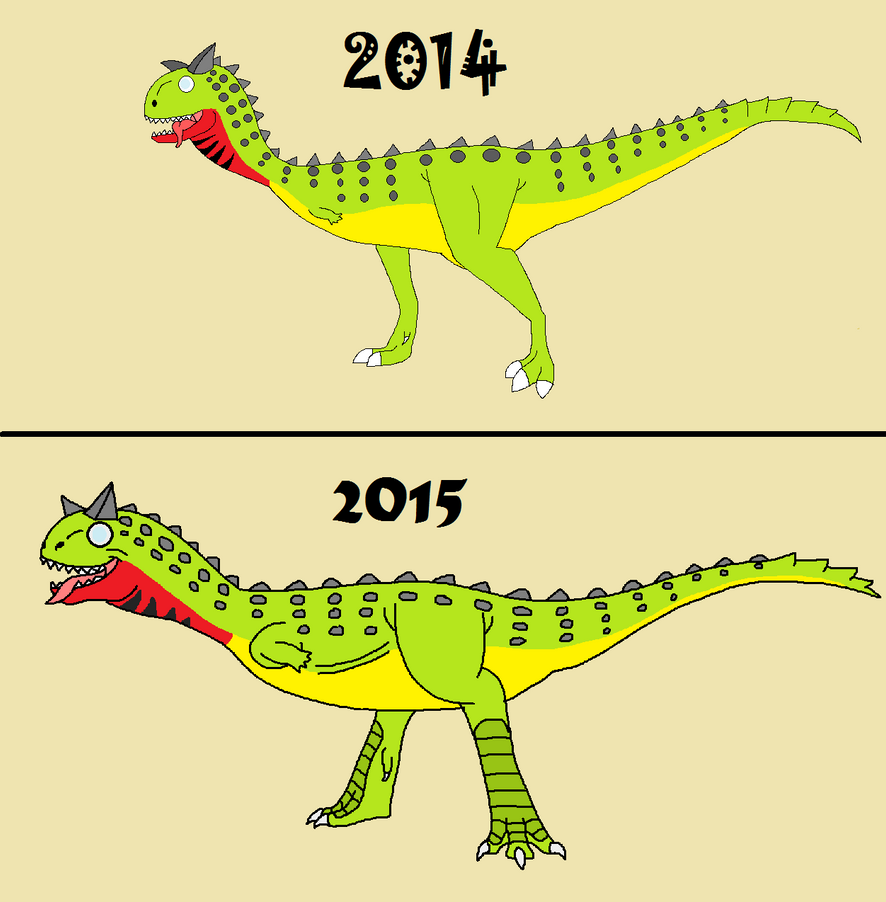 Then vs Now by TheMightySaurus