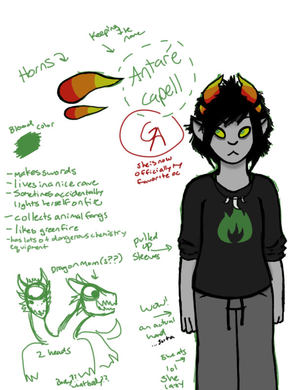 Antare Capell (REVISED) by ginger--ale