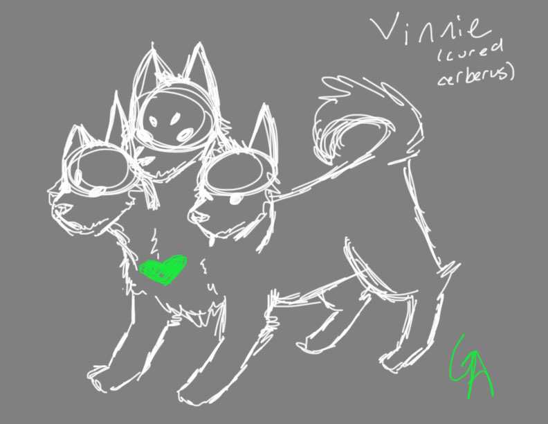 Vinnie (a cured version of cerberus) by ginger--ale