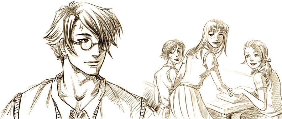 Harry Ginny by HitoFanart