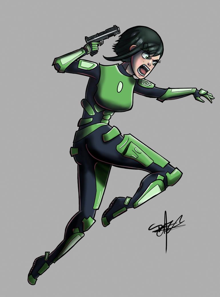 Sci-fi police better color by Raptorspok