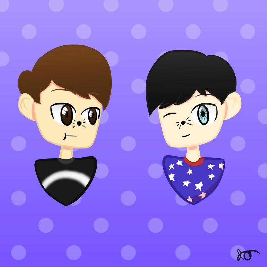 Dan and Phil fan art by TheJoeJoe777