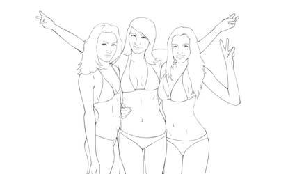Surferchick-sketch2 by foffern