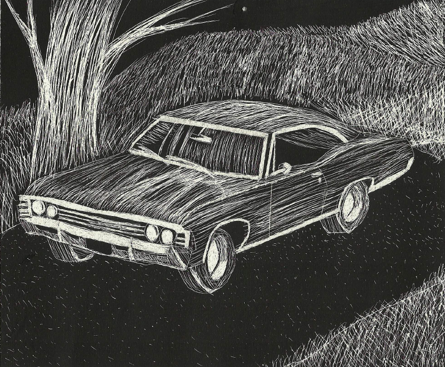 67 Impala Scratch Art By Foxiez