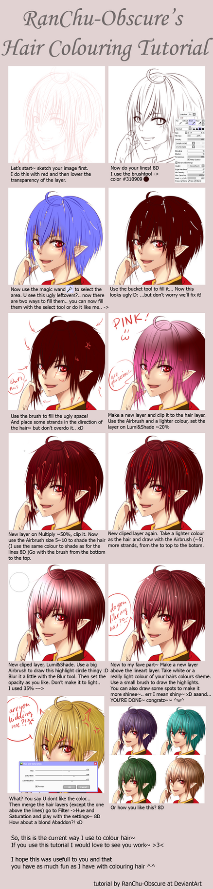 SAI Hair Colouring Tutorial by RanChu-Obscure