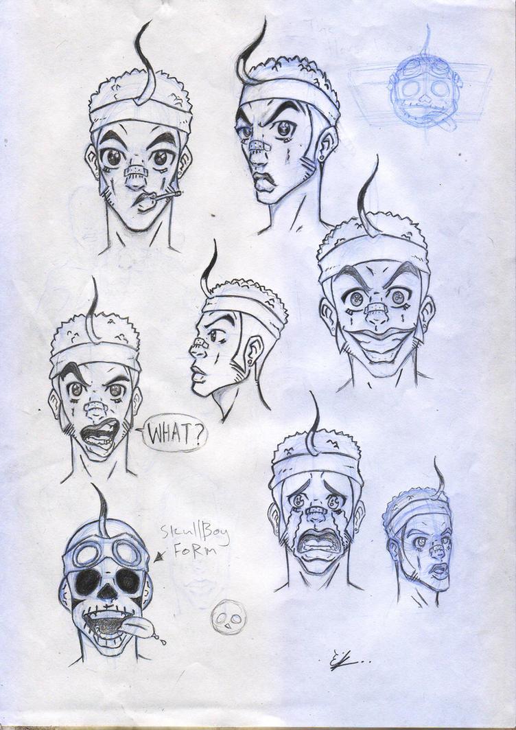 Character Design- Skullboy by EnockKumbu