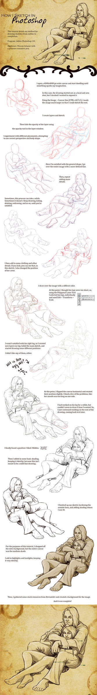 Sketching Tutorial by XeiArt