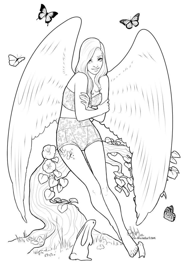 mlp fluttershy coloring sheet by xeiart on deviantart