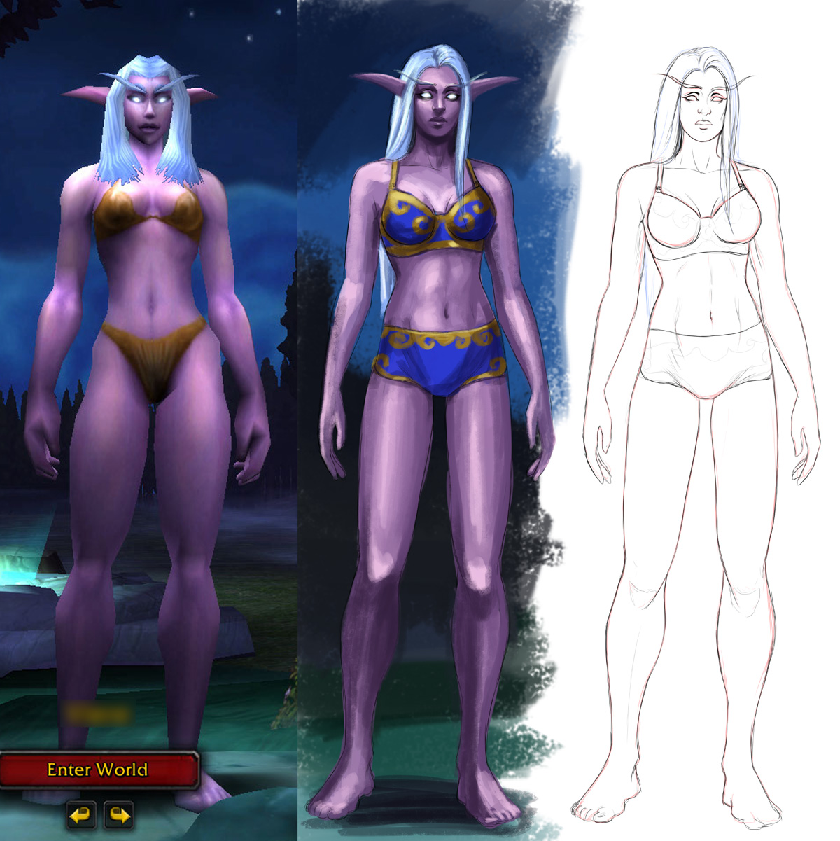 Blood elf pregnancy anime pic