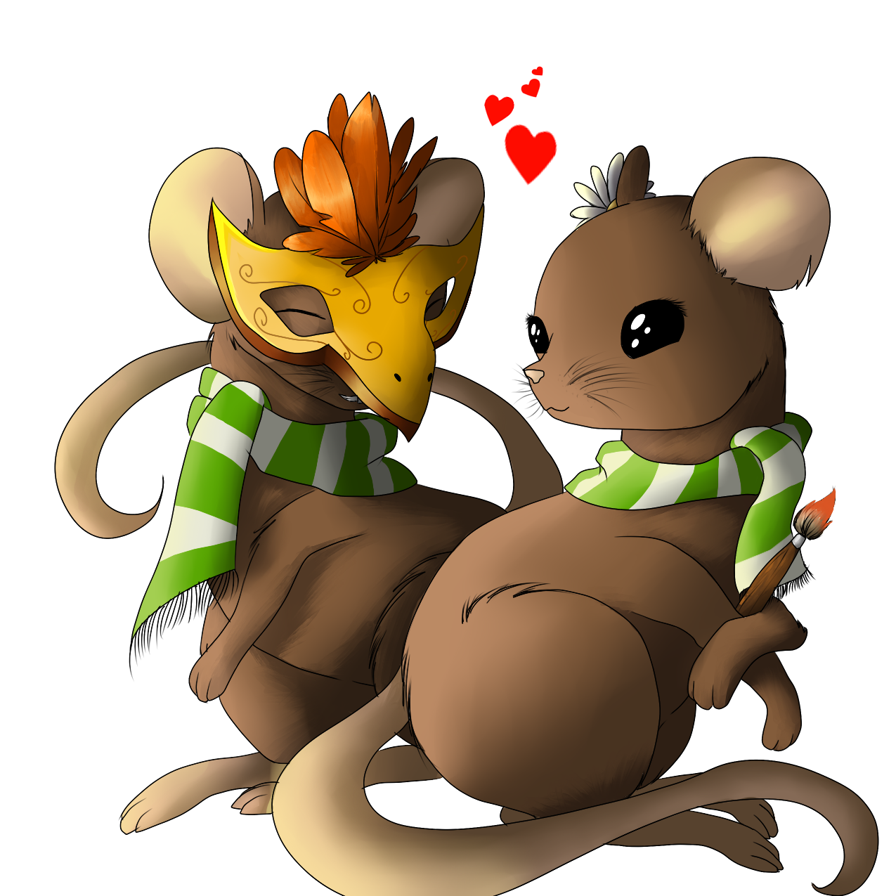 Two little mices by EndiDjPrime