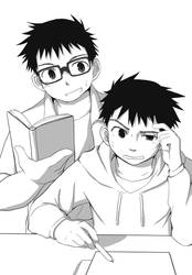 Twin study buddies by Muzickjunki91