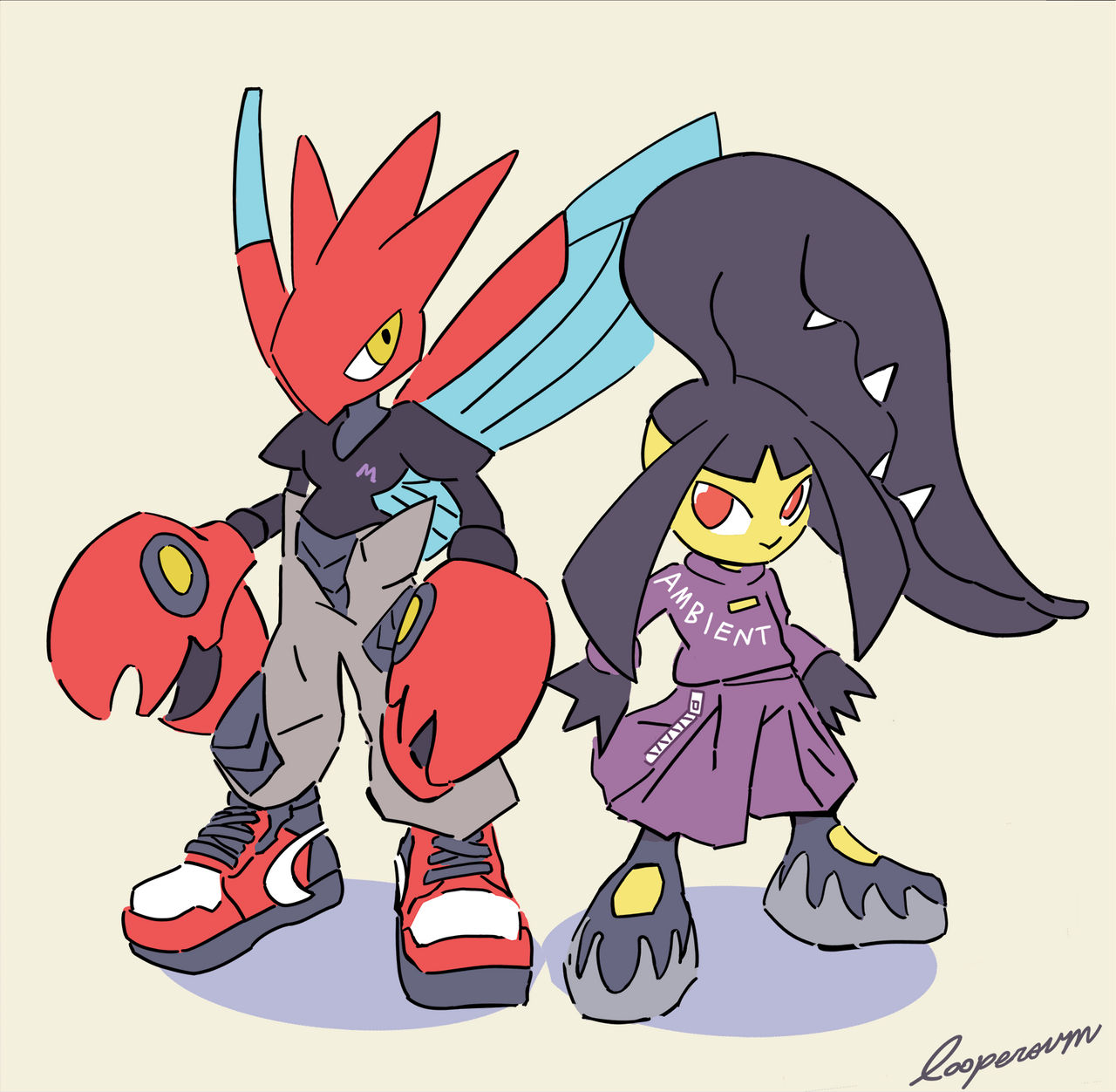 Scizor and Mawile