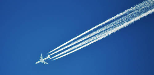 Brightest Blue Contrails by lukebrooks