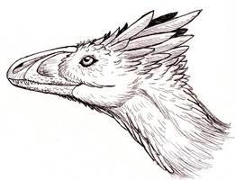 Deinonychus head - new design by EWilloughby