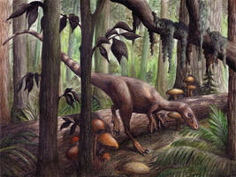 Sinosauropteryx by EWilloughby