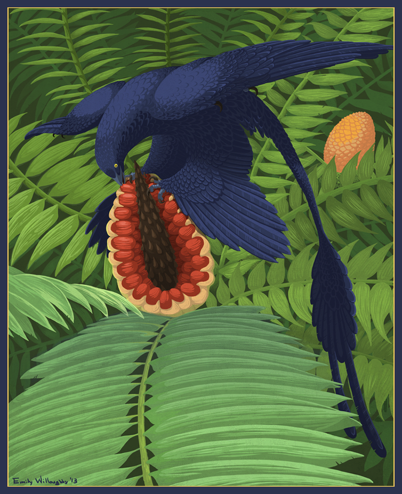 Microraptor Omnivory by EWilloughby