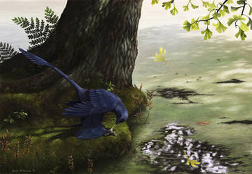 Microraptor Piscivory by EWilloughby