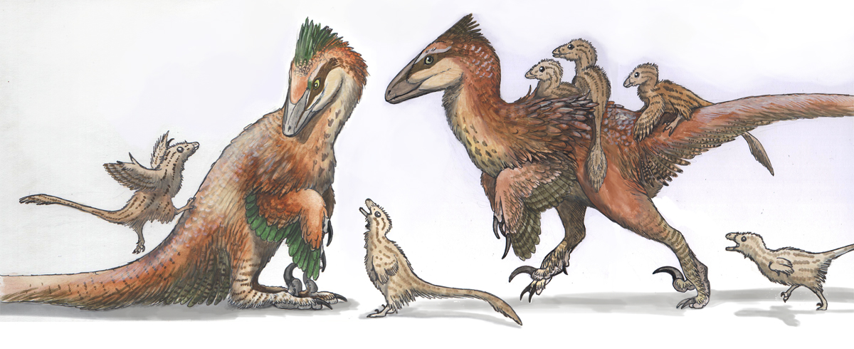 Deinonychus Family by EWilloughby