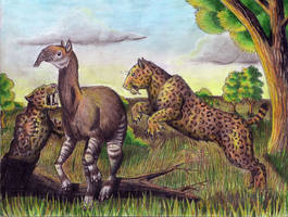 Sabertooths and Litoptern by EWilloughby