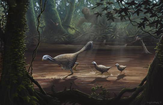 Caudipteryx with Chicks