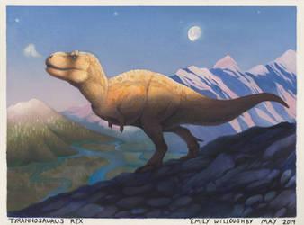 Tyrannosaurus at Dawn by EWilloughby