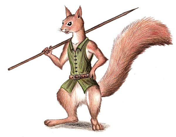 how to draw anthro squirrl