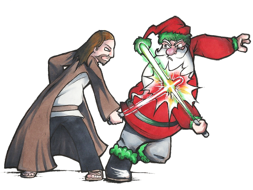 jesus vs santa by epifex - Santa And Jesus