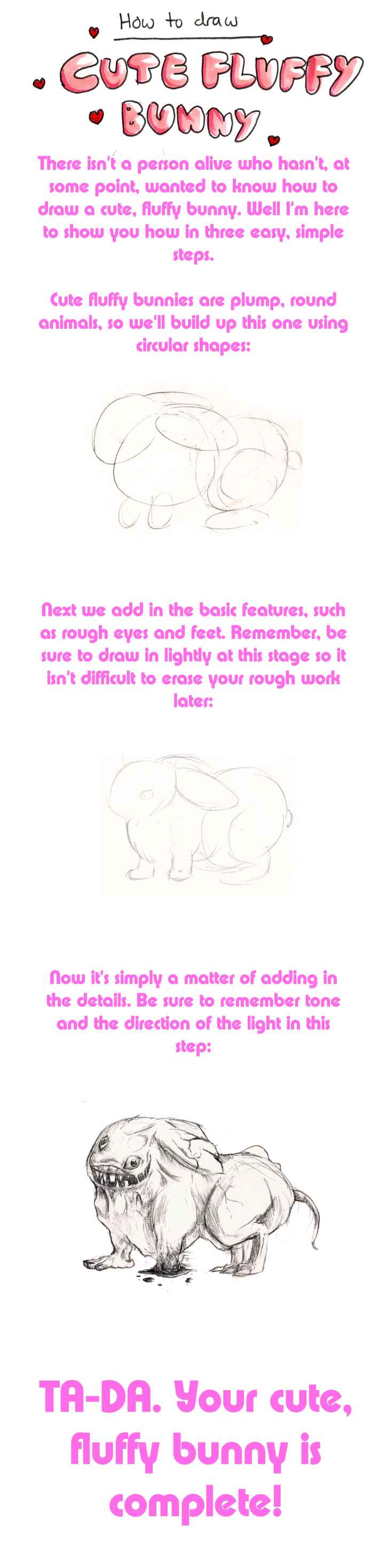 How To Draw a Cute, Fluffy Bunny by Epifex