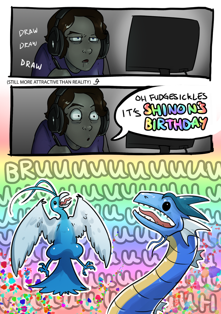 GUYS IT'S SHINON'S BURFDAY by Epifex