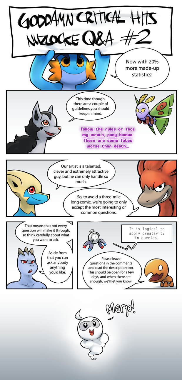 Nuzlocke Q+A Questions CLOSED by Epifex