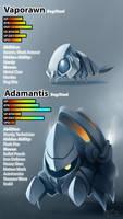 Fakemon Collab: Vaporawn and Adamantis