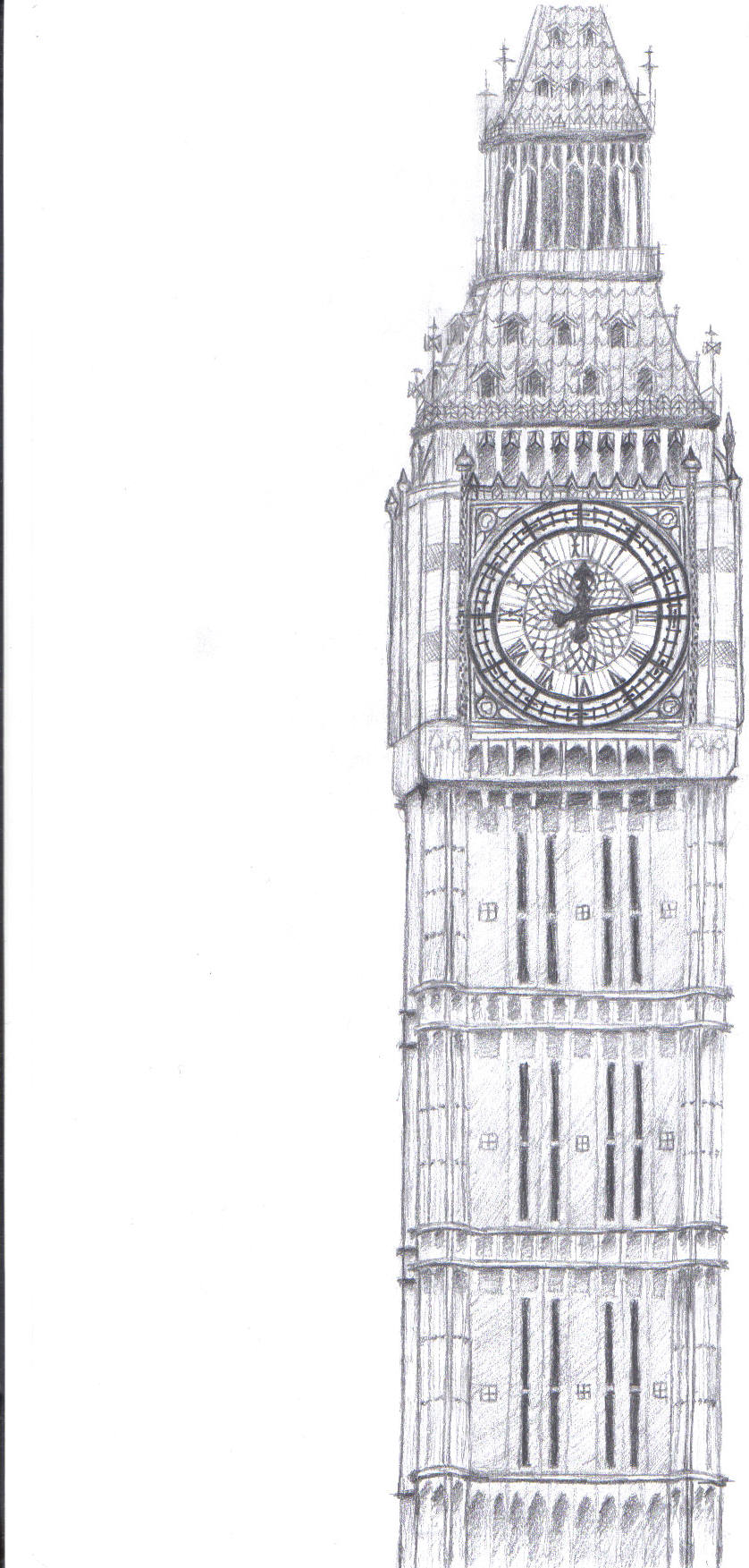 drawings 2010 2015 simplylazy475 this was a drawing that i didLondon Clock Tower Drawing