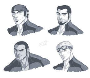 Delta Squad Sketches by MyFantasiWorld