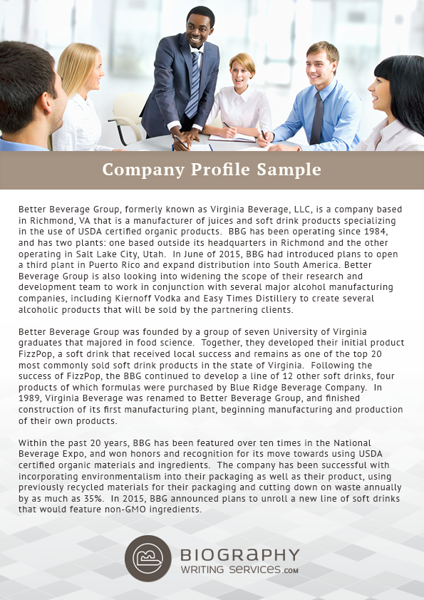 Company Profile Sample by BestBiographySamples on DeviantArt – Write Company Profile Template