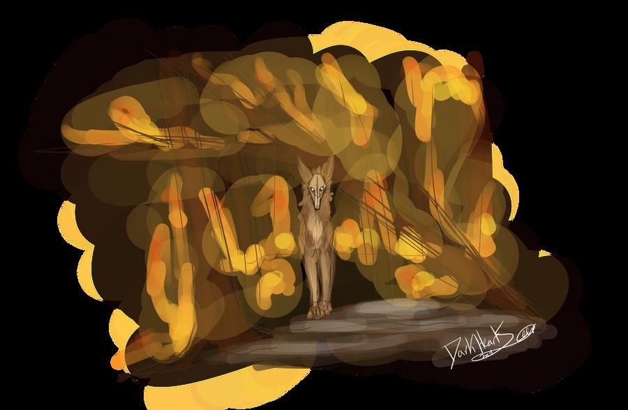 Burning sketch by DarkHeartSeer