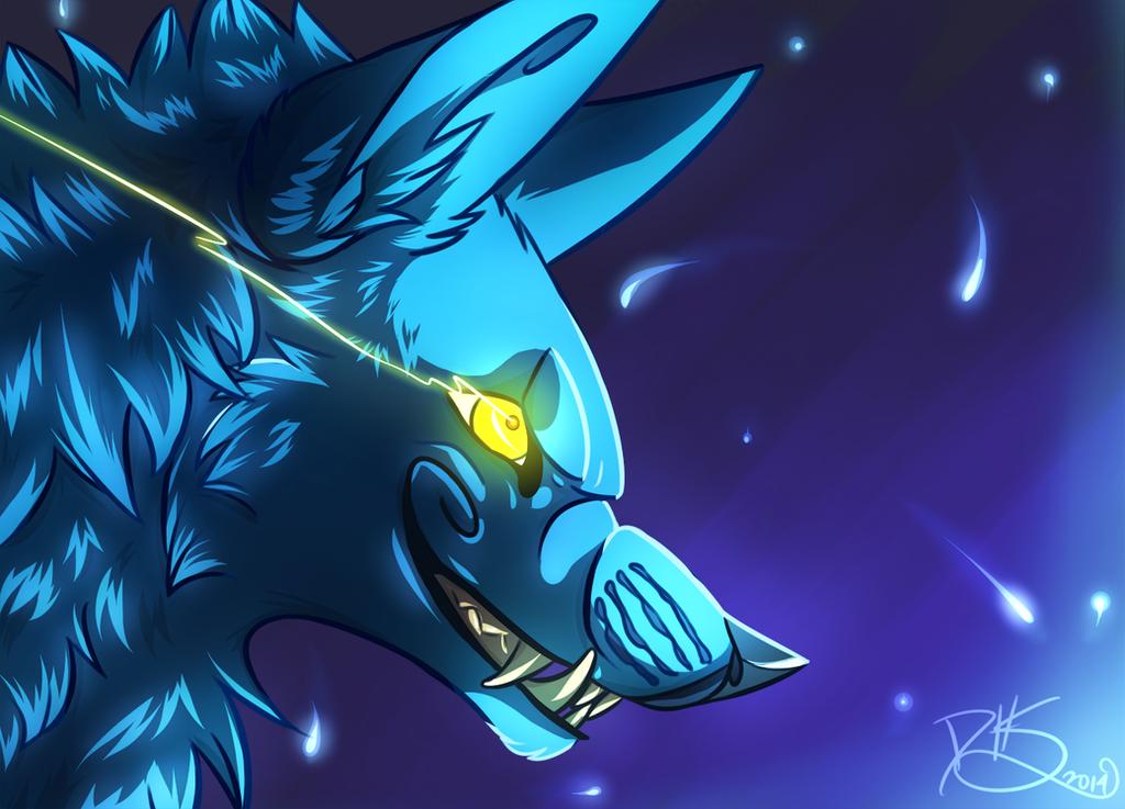 Wolf!Sly Blue by DarkHeartSeer