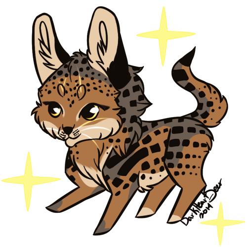 Chibi Serval!Mitzy by DarkHeartSeer