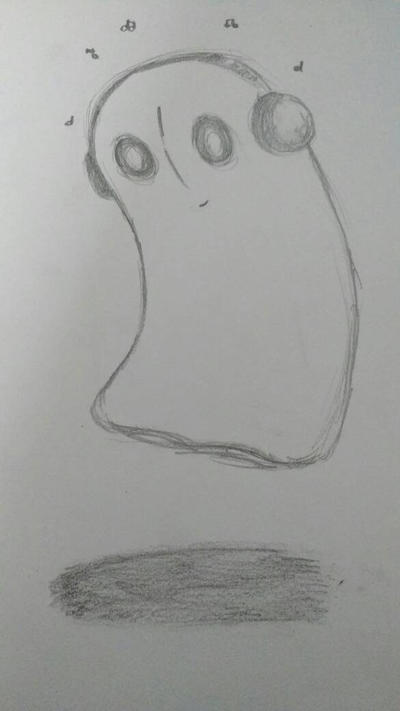 Napstablook Sketch by Vanaheim26