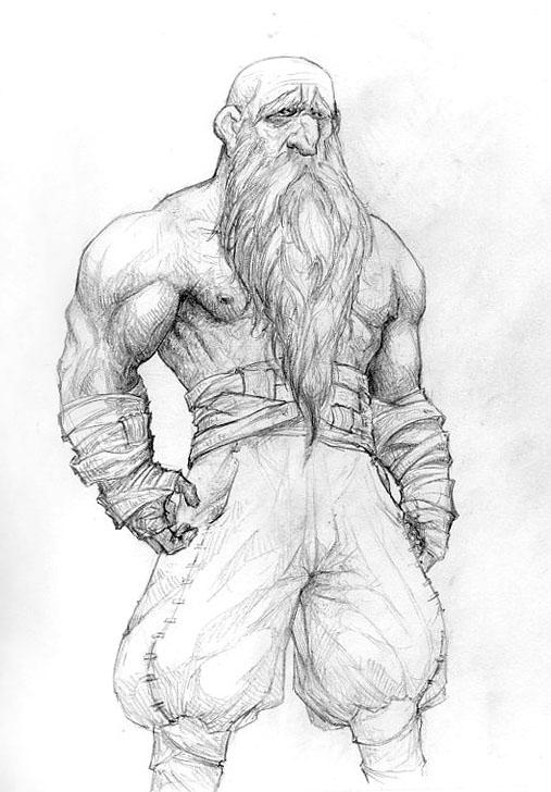 Dwarven Monk by DanMaynard