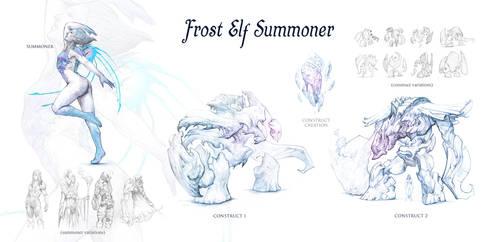 Frost Elf Summoner by DanMaynard